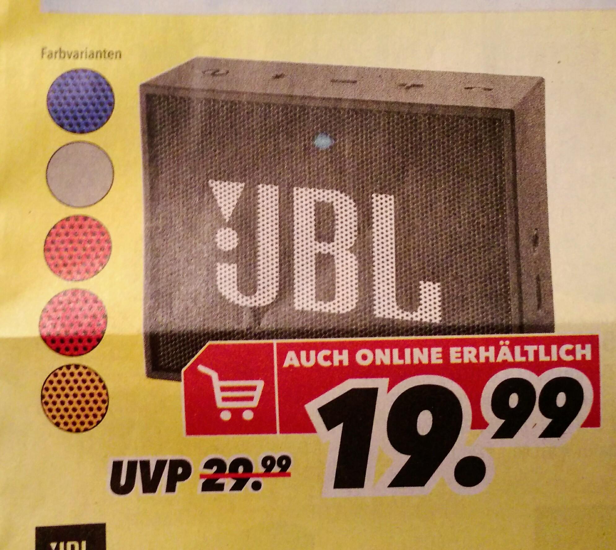 JBL Go (lokal deutschlandweit bei MediMax)