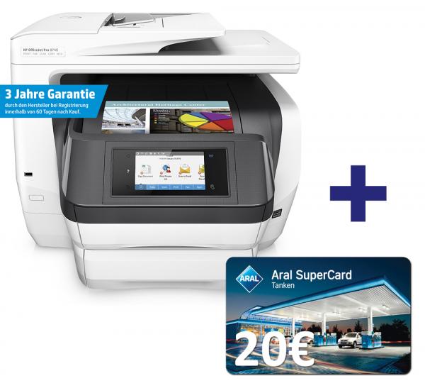 HP OfficeJet Pro 8740 Tintenstrahl-Multifunktionsgerät D9L21A - Neujahrskracher bei Office-Partner