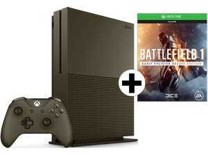 Xbox One S 1TB Military Green + Battlefield 1 Special Edition für 284,09€ (Saturn.at)