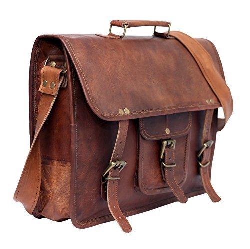 @Amazon Tagesangebot Leder Vintage Umhängetasche Laptoptasche 15 Zoll