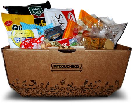 [mycouchbox] 1x Einmalbox & 1x Überraschungsbox mit Süßigkeiten & Snacks - (kein Abo - einmalige Lieferung, VSK-frei)