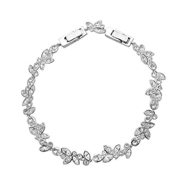 Swarovski Damen-Armband rhodiniert Glas transparent 16.5 cm - 5146744 (Amazon)