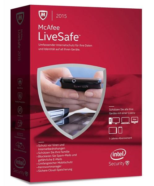 [Comtech/Comdeal] McAfee LiveSafe 2016 unlimited - für eine unbegrenzte Anzahl an Geräten für 9,90€ Versandkostenfrei