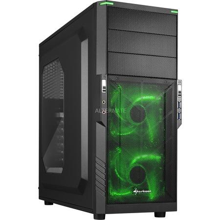 [ZackZack] Sharkoon T3-W PC-Gehäuse (Schnellverschlüsse, 2x 120-mm-LED-Lüfter vorinstalliert, USB 3.0) blau,grün oder rot für je 29,99€ Versandkostenfrei