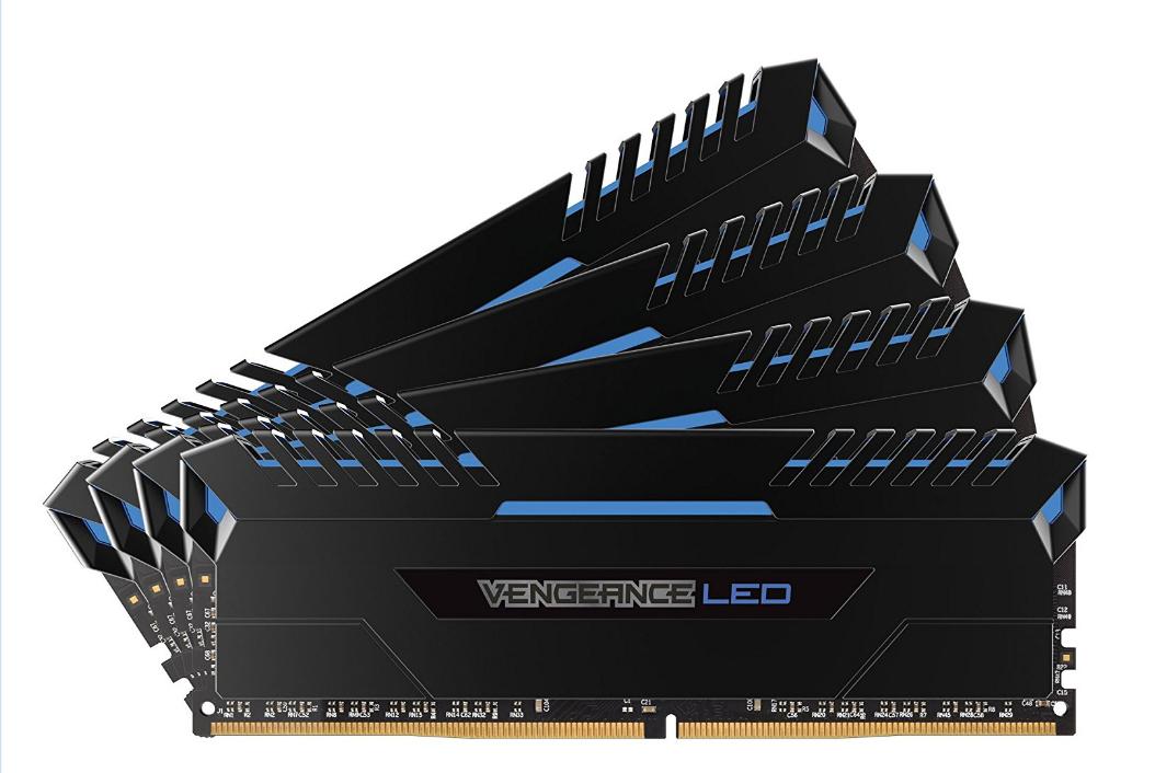 Corsair CMU32GX4M4C3000C15B Vengeance LED DDR4 3000MHz 32GB (4x 8GB)  205,96€ Amazon