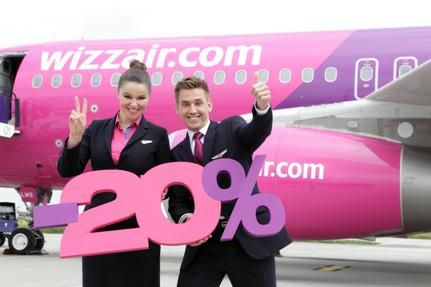 Wizzair 20 % auf alle Flüge