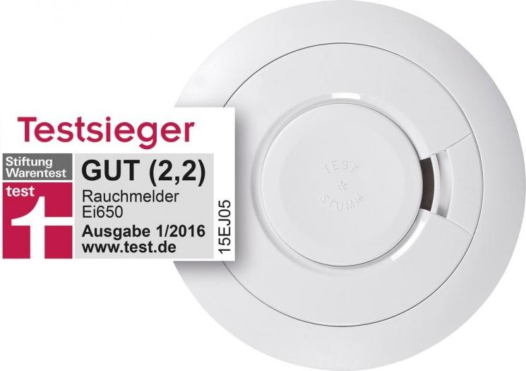 [Voelkner] mit SOFORTÜberweisung und 5,55 Gutschein 3 x Ei Electronics Rauchwarnmelder inkl. 10 Jahres-Batterie Ei650 für rechnerisch 17,45