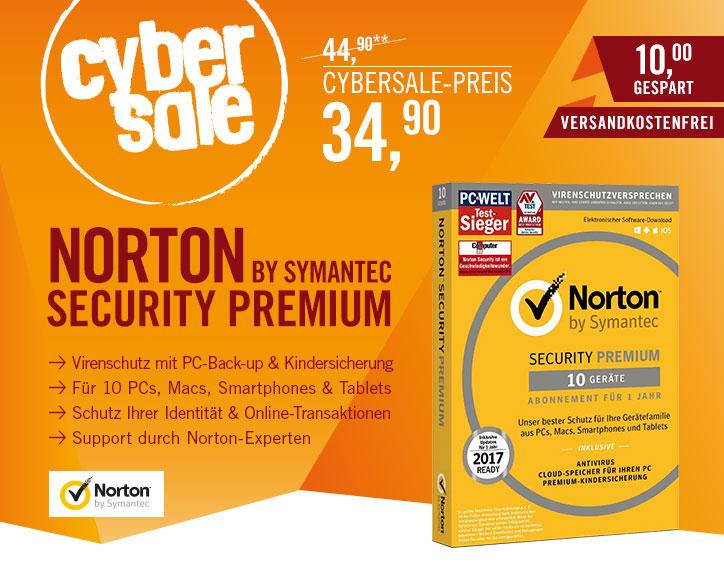Cyberport: Symantec Norton Security 3.0 für 10Geräte 1Jahr CardCase