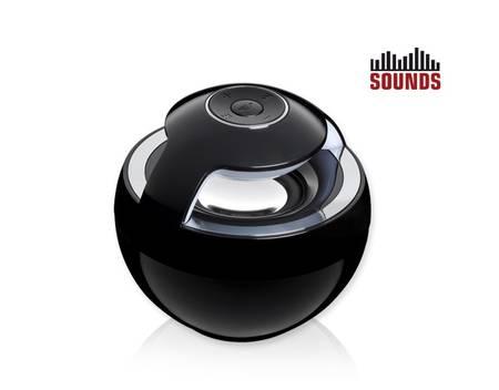 SOUNDS 360° Bluetooth Lautsprecher, 3 Watt, Schwarz