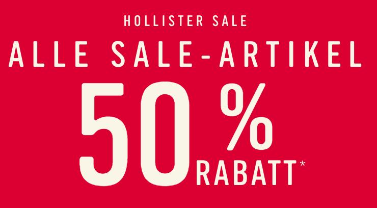 Hollister: ALLE SALE-ARTIKEL -50 % (Nur Online!)