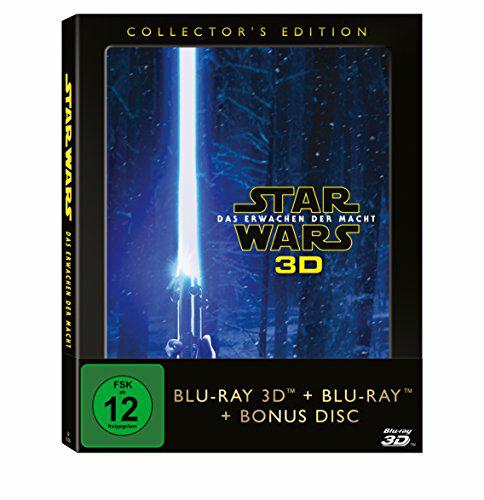 Star Wars - Das Erwachen der Macht [3D-Blu-ray] (+ 2D-Blu-ray + Bonus-Blu-ray) [Collector's Edition] bei amazon.de