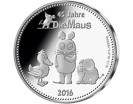"""Die offizielle Silberausgabe """"Die Maus"""" --> echtes Silber 333/1000 --> 12,95 €"""