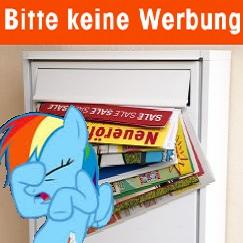 """Gratis Sticker für den Briefkasten: """"Bitte keine Werbung!"""""""