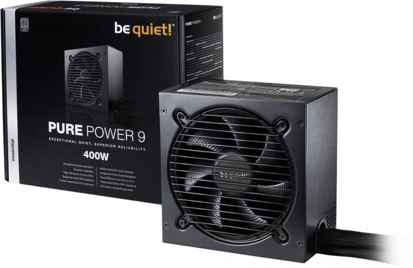 be quiet! Pure Power 9 Netzteil (80+ Silber) mit 400W für 44,30€ [Voelkner]