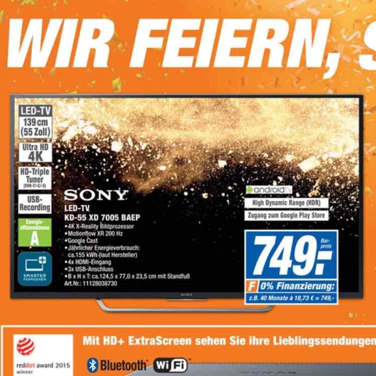 Sony KD 55 XD 7005 749€ *lokal*