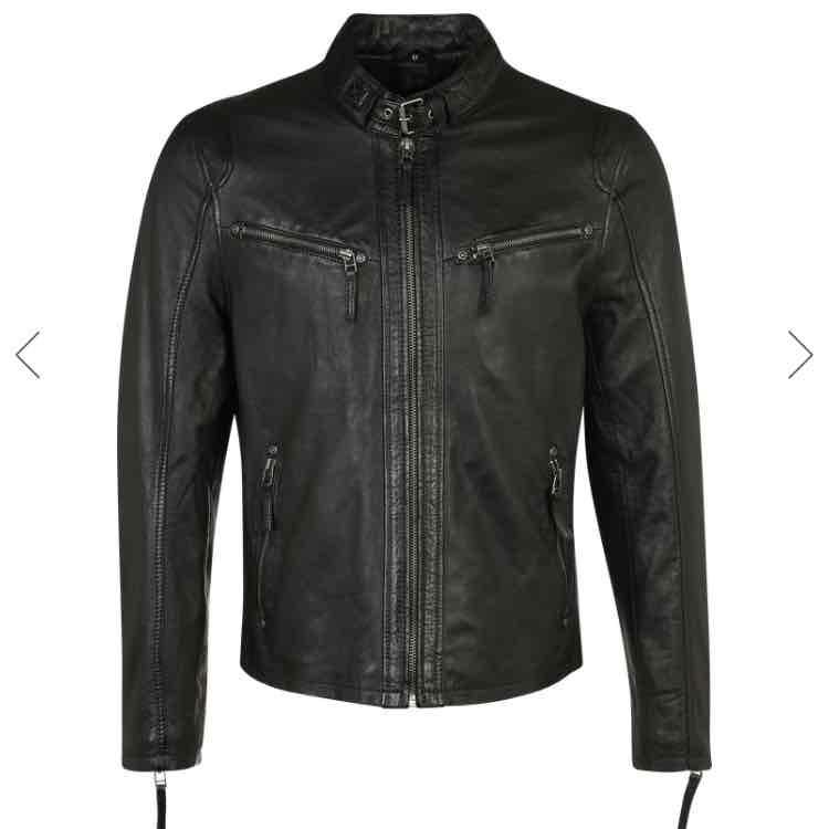 [aboutyou]Lederjacke Gibsy Coby (S-XL) Schwarz und Grau für 72,17€
