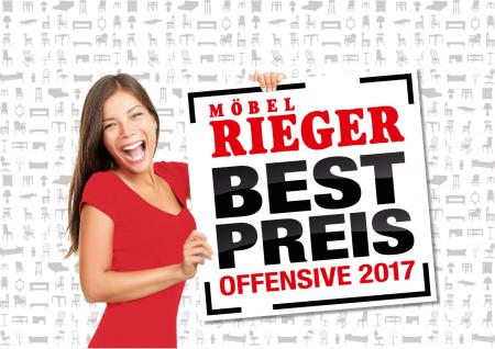 Best-Preis Offensive 2017 - 19% MwSt. geschenkt + 15% Extra-Rabatt - [Möbel RIEGER]