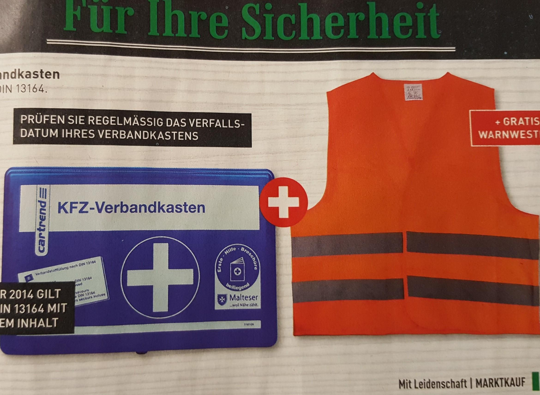 [Marktkauf] KFZ-Verbandkasten + gratis Warnweste 3,99€
