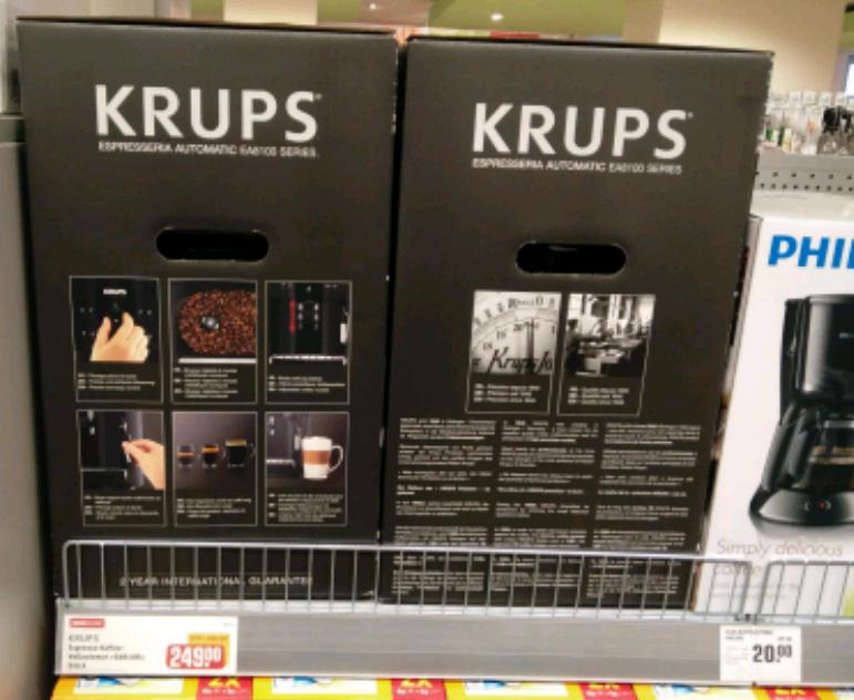 Rewe Jena: Krups Kaffee-Espresso Vollautomat EA810b
