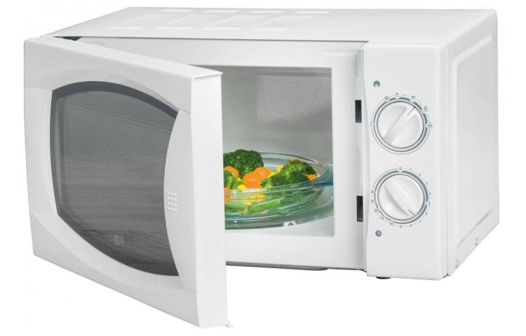[POCO bundesweit] Einfache Mikrowelle ohne Schnickschnack, 700 W, Drehteller, weiß oder silber nur € 35.-