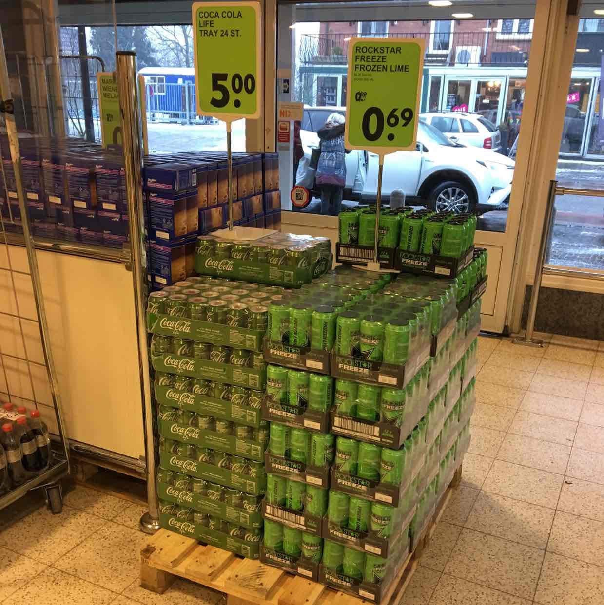 Coca Cola Life 24 Dosen bei H&P Siebengewald NL - Grenze Kleve/Goch