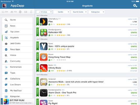 [iOS/Android] Kostenlose und preisreduzierte Apps einfacher finden mit AppZapp HD