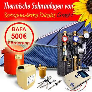 Thermische Solaranlage zur Brauchwassererwärmung, BAFA Förderung und Preisvorschlag möglich (ebay)
