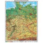 Deutschlandkarte XXL 1,95 Meter mit Lifetime Update Zertifikat (12,97 EUR, sonst  99 EUR)