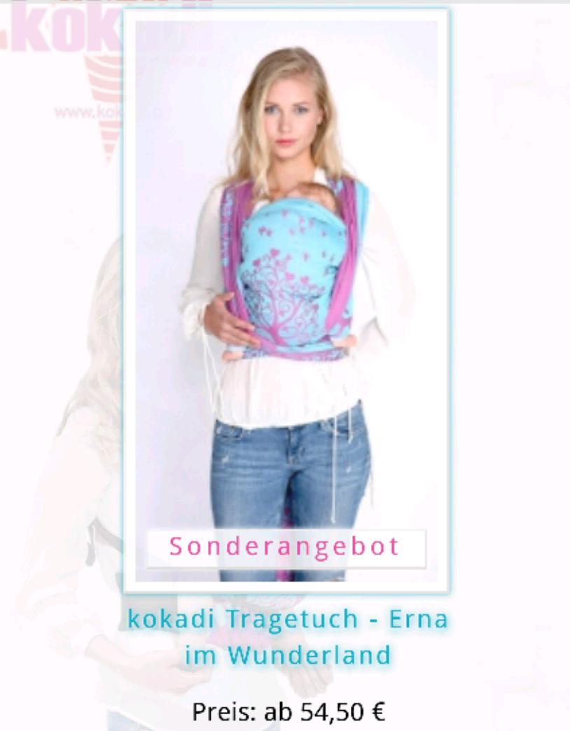 "[kokadi.de] Babytragetücher ""Erna im Wunderland"" um 50% reduziert ab"