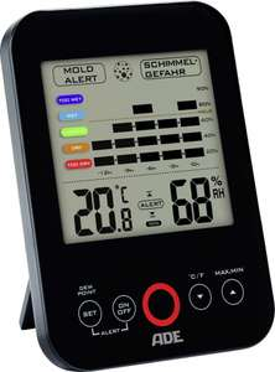 Bei voelkner.de: ADE WS 1501 Hygrometer/Thermometer mit Schimmelalarm