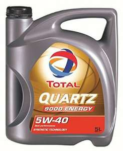 5 Liter Total 5w40 Quartz Energy 9000 Motoröl [Amazon Prime]
