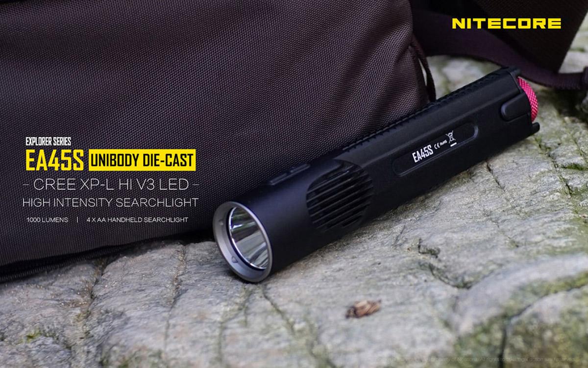 Nitecore EA45S Cree XPL Hi V3 - 1000Lm Unibody LED Taschenlampe für 37,87€