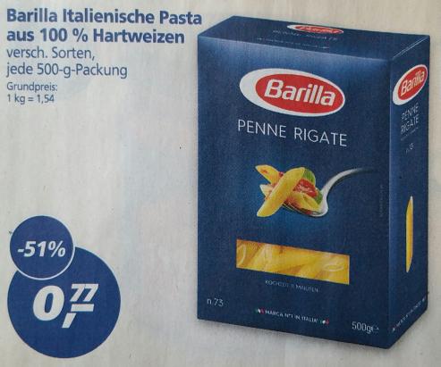 [Offline real] Barilla Pasta für 77 Cent