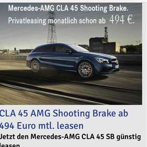Privat Leasing Brutto 494€ Mercedes-Benz CLA 45 AMG 4MATIC Shooting Brake