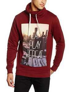 [Amazon] JACK & JONES Herren Sweatshirt Rot Größe L