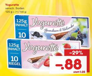 Yogurette versch. Sorten 125g 0,88€ am Sa.14.01.2017 bei Netto MD