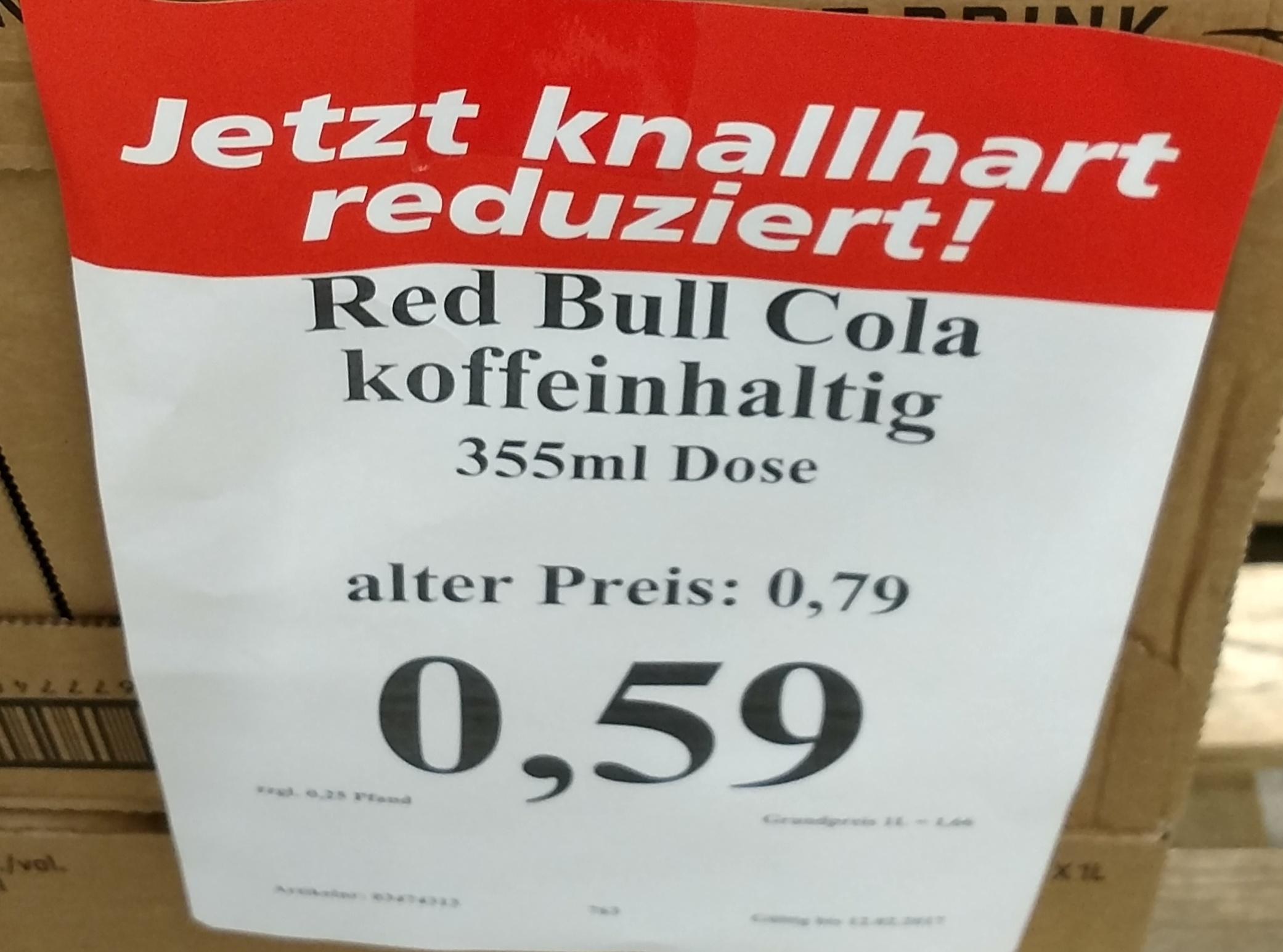 [Lokal Thomas Philipps] Red Bull Cola 355 ml - 59 Cent / Mezzo Mix Zero 0,5 L - 29 Cent