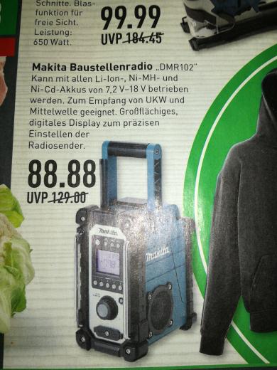 Makita Baustellenradio Marktkauf(Lokal 12.1)