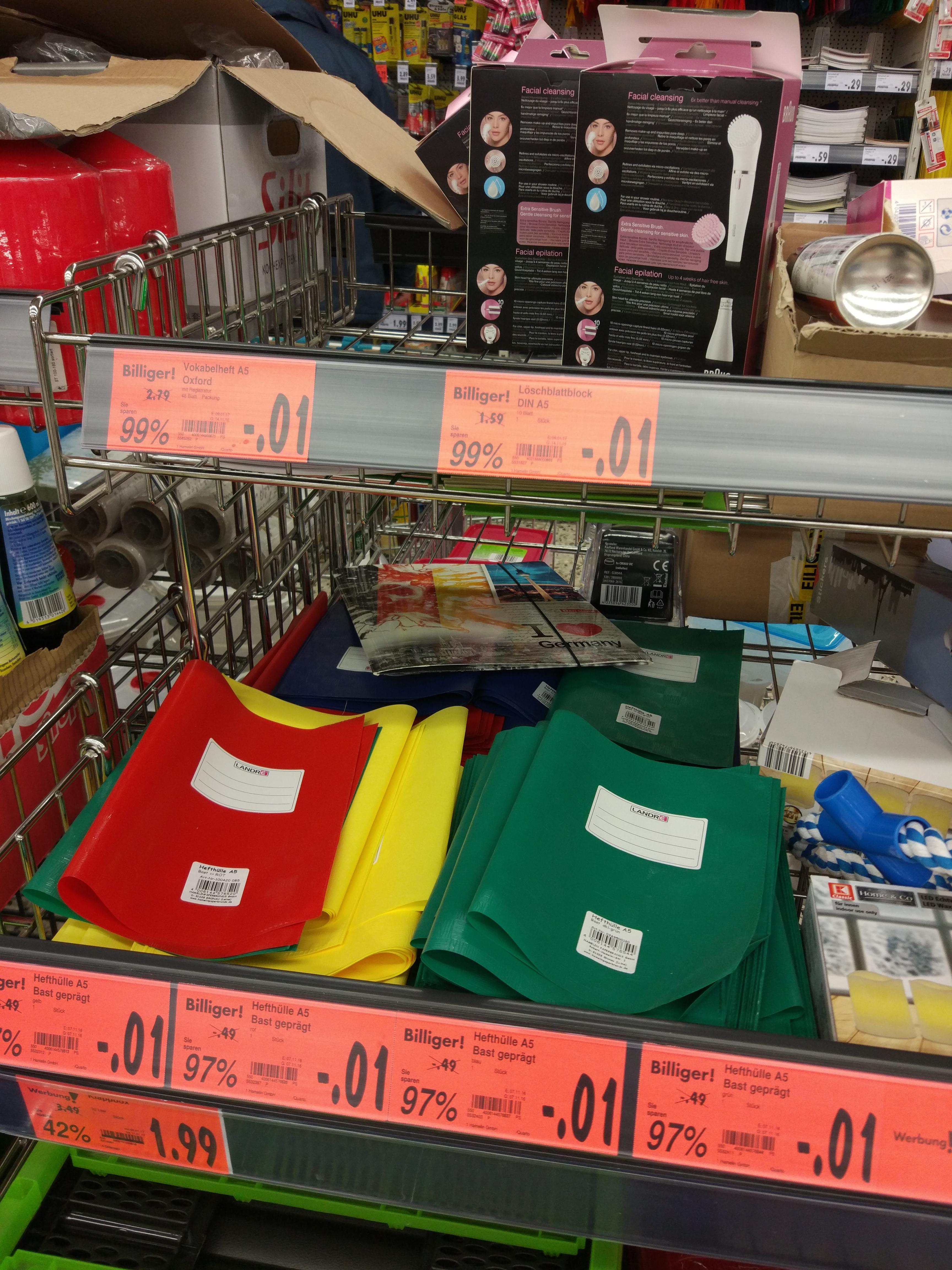 [Lokal Herrenberg] Kaufland Hefthüllen und Vokabelheft