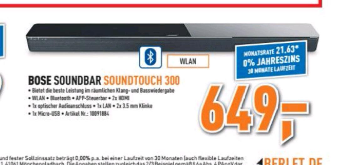 [Offline] Berlet - Bose Soundtouch 300 für 649€