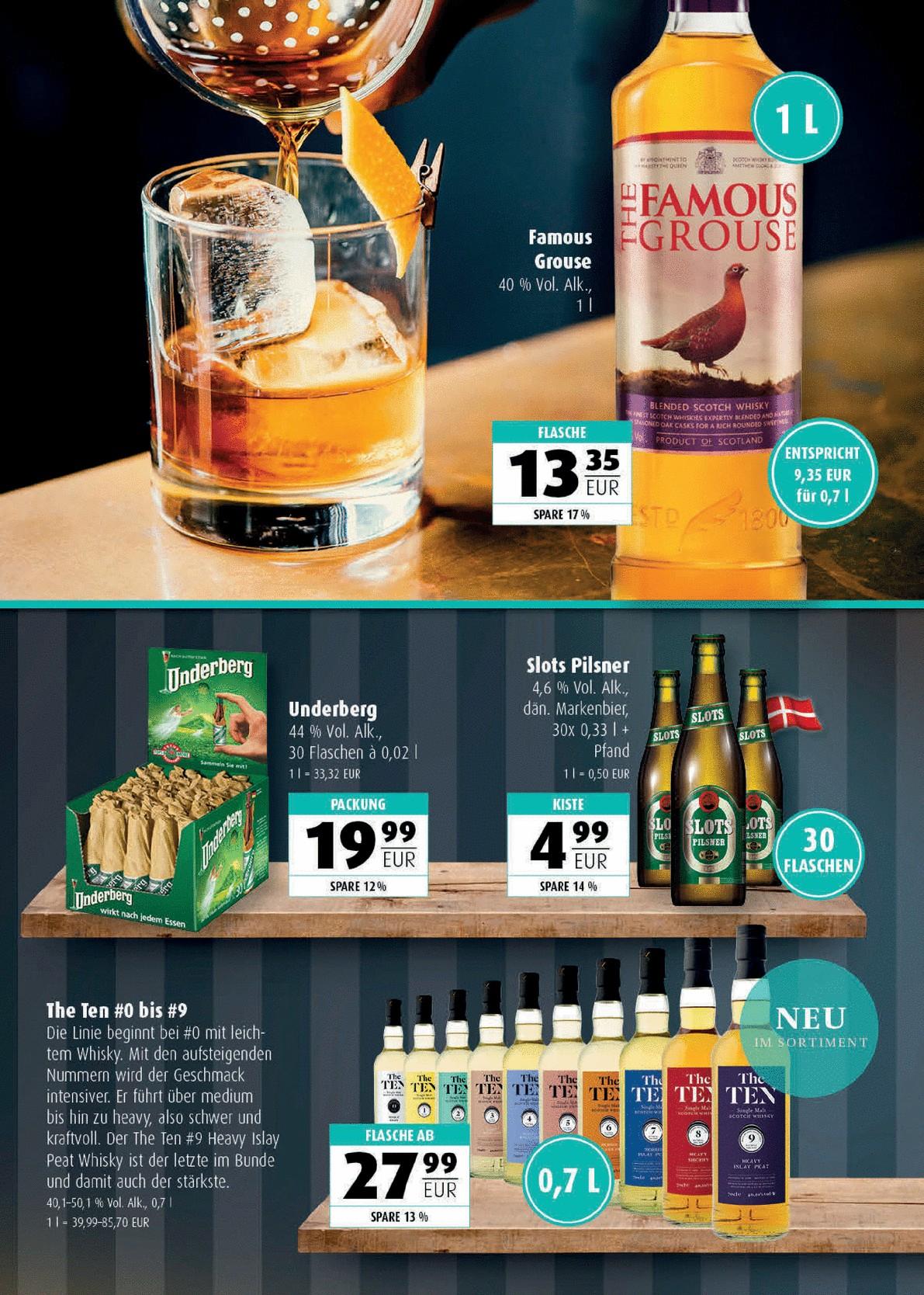 *Lokal Flensburg* Spirituosen z.B. Famous Grouse Blended Scotch Whisky 1Liter f. 13,55€