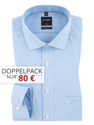 3 x Olymp Hemden Luxor Modern Fit 95 €  - pro Hemd 31,66 € - sehr große Farb und Größenauswahl bei Hirmer