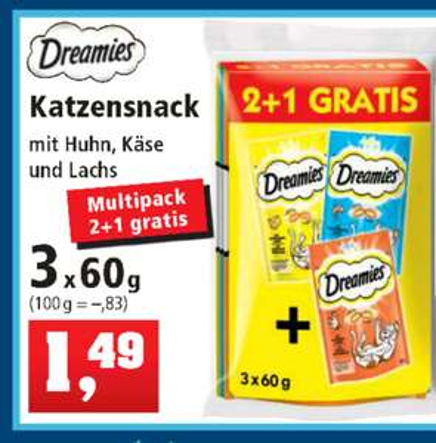 Dreamies Katzenleckerlis 3er-Pack