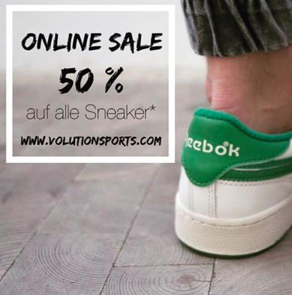 50% Rabatt auf ALLE Sneakers bei Volution Sports, Tiefstpreise für Nikes, Adidas, Veja usw.