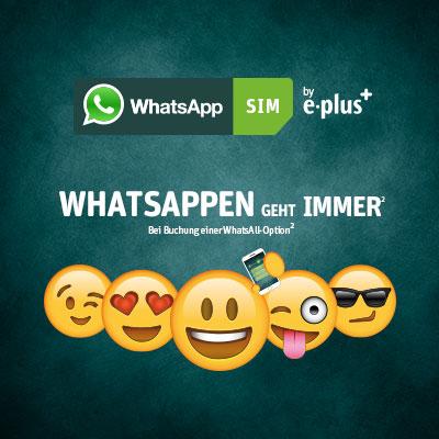 WhatsApp SIM für 5€ [statt 10€] (nur Heute)