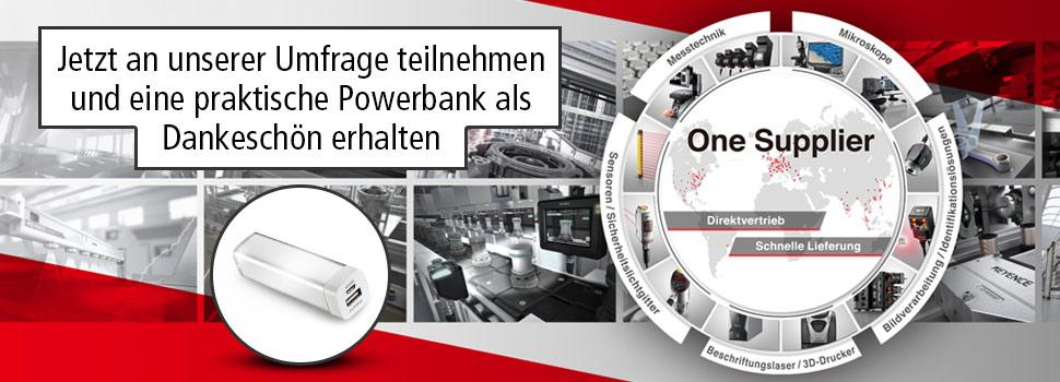 Kostenlose Powerbank durch Umfrage bei Keyence *Registrierung notwendig*