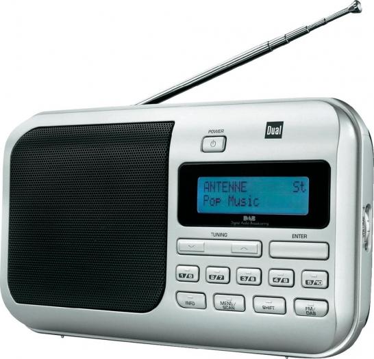 [Digitalo] Dual DAB+ Kofferradio DAB 4 DAB+, UKW Silber
