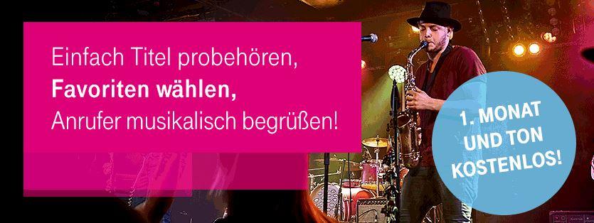 Telekom Freizeichentöne (Charts, Best of 2016 etc.) einen Monat kostenlos (statt 1,49€) nur Telekom Kunden