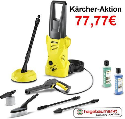 KÄRCHER Hochdruckreiniger inkl.T 150 »K2 Car & Home« PVG 109,00€ [Lokal Hagebaumarkt Neuss]