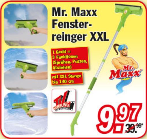 """""""Mr. Maxx"""" Fensterreiniger XXL bei Zimmermann für nur  9,97€"""